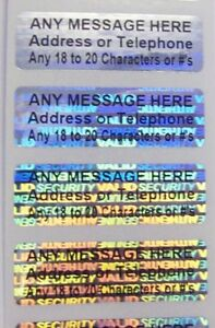 1500 Svag Custom Print Hologram Security Labels Stickers Seals 5 x1 5