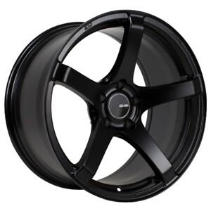 17x8 Enkei Kojin 5x114 3 45 Black Rims Fits Mazda 6 Accord Rsx Tsx