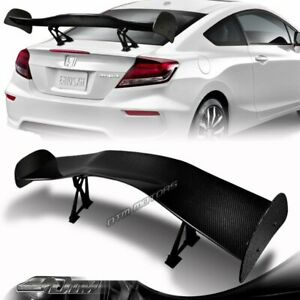 57 Type 1 3d Real Carbon Fiber Adjustable Rear Trunk Gt Spoiler Wing Universal