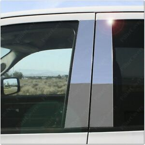 Chrome Pillar Posts For Chevy Aveo 4dr 5dr 04 06 6pc Set Door Mirror Cover