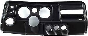 69 Chevelle Black Dash Carrier Panel W Astro For 5 2 1 16 Gauges