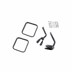 Rugged Ridge Mirror Arm Replacement Steel Black Jeep Pair