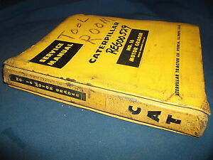 Cat Caterpillar No 16 Motor Grader Service Shop Repair Book Manual S n 49g1 up