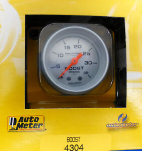 Auto Meter 4304 Ultra Lite Mechanical Boost Pressure Gauge 0 35 Psi