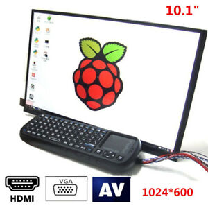 10 1 Tft Lcd Screen Display Hdmi Vga Video Av Driver Board For Raspberry Pi