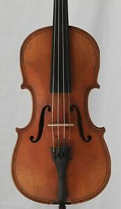 Nice Old Antique 4 4 Violin Maggini Possibly American Maker Long Pattern 368mm