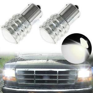 2pc 5w Amber 1156 7506 7507 Led Projector Lens Bulbs For Turn Signal Lights