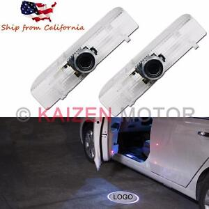 2x Led Car Door Led Welcome Laser Logo Ghost Shadow Light For Nissan No Drilling