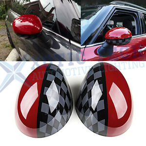 For Mini Cooper Jcw Pro Side Mirror Covers Caps W Key Cap Fit F55 F56 F54 F57