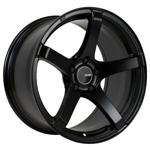 18x8 5 Enkei Kojin 5x114 3 50 Black Wheel 1