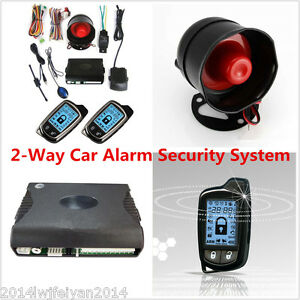Autos Super Long Distance Controlers Anti theft 2 Way Car Alarm Security System
