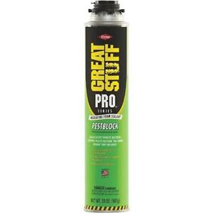 12 great Stuff Pro 20 Oz Gray Color Pestblock Insulating Foam Sealant 11073754