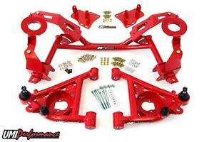 Umi 82 92 Camaro W Lsx Tubular K Member A Arm Kit For Factory Springs