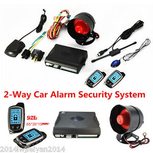 Universal 2 Way Lcd Long Distance Controler Car Alarm Security Anti Theft System