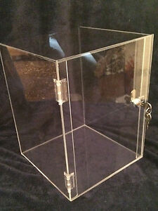 Acrylic Display Case 10 X 10 X 16 5 Acrylic Counter Top revolve Avail
