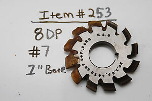 Gear Cutter 7 8dp 1 Bore Usa Made 8dp 1 Arbor 253