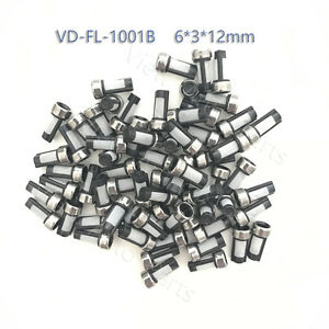 100pcs Fuel Injector Micro Basket Filter Stainless Steel Crush Ring Size 6 3 12