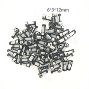50pcs Fuel Injector Micro Basket Filter Stainless Steel Crush Ring Size 6 3 12