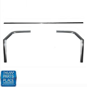 1962 65 Nova Chevy Ii 3 Piece Aluminum Body Molding With Trunk Quarter Set