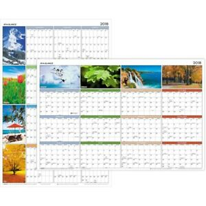 At a glance Seasons In Bloom Erasable reversible Wall Planner Pa 133