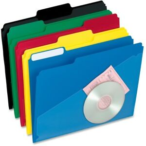 Pendaflex Hot Pocket Poly File Folders 00515