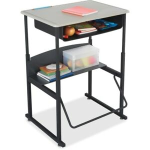 Safco Alphabetter Desk 28 X 20 Standard Top With Book Box 1202be