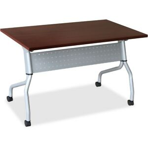 Lorell Mahogany Flip Top Training Table 60722