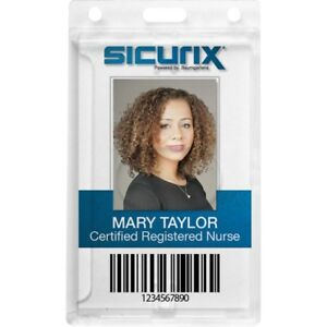 Sicurix Rigid Pc Id Badge Dispensers With Thumb Slot Vertical 68140