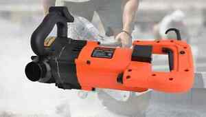 Wall Groove Cutting Machine Milling Slots Ductss Slits On Concrete Brick Saw