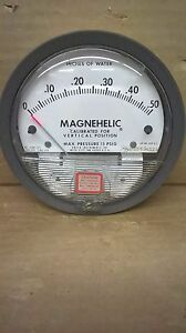 Dwyer Magnehelic 2000 0 Diff Pressure Gauge 0 0 5 In H2o