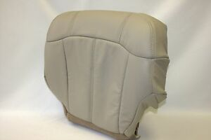 99 2000 2001 2002 Chevy Tahoe Suburban Driver Bottom Vinyl Seat Cover Shale Tan