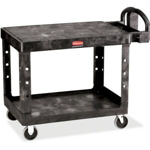 Rubbermaid 4525 Hd 2 shelf Utility Cart Flat Shelf med 452500bk