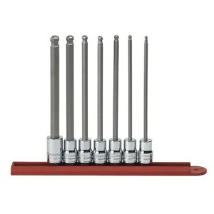 7 Piece 3 8 Drive Sae Long Ball Hex Bit Socket Set