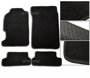 Fit For 1997 2001 Honda Prelude Black Nylon Carpet Floor Mats 4 Pcs