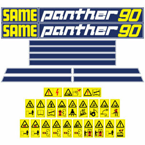 Same Panther 90 Tractor Decal Aufkleber Adesivo Sticker Set