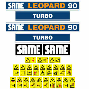 Same Leopard 90 Tractor Decal Aufkleber Sticker Set