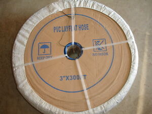 Pvc Lay Flat Reinforced Nylon Discharge Hose 3 X 300ft