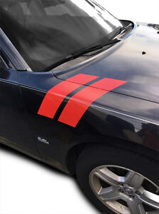 2006 2007 2008 2009 2010 Dodge Charger Fender Racing Hash Stripes Decal