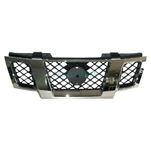 New 2009 2016 Fits Nissan Frontier Grille Chrome Black Ni1200233