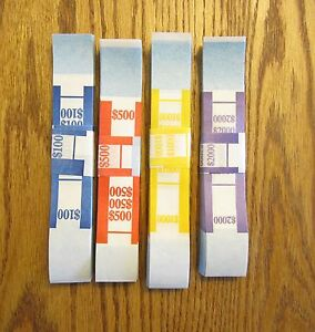 4000 Self Sealing Currency Straps Money Bill Bands Strap Pmc Company Brand