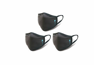 Anti dust Breathable Face Mouth Mask Black By Kezzled pack Of 3
