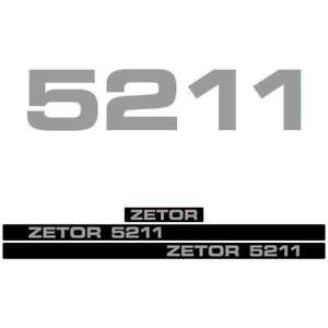 Zetor 5211 Tractor Decal Aufkleber Adesivo Sticker Set