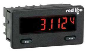 Dc Voltmeter W Red green Backlight Red Lion Cub5vb00