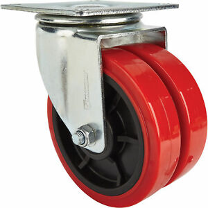 Strongway 8in Swivel Heavy duty Dual wheel Caster 2 200lb Capacity