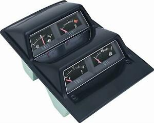 1968 1974 Chevrolet Nova Console Gauge Pod Kit Black Oer