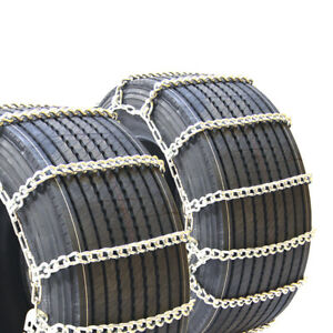 Titan Truck Mud And Snow Off Road Wide Base Link Tire Chains 10mm 275 75r16