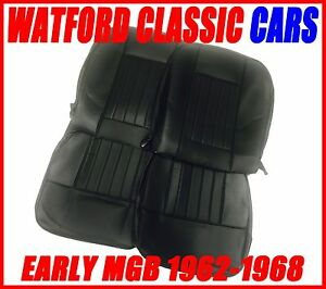 Mgb Roadster And Gt Pair Of Seat Covers 1962 1968 Leather Look All Black