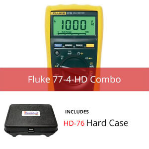 Fluke 77 4 hd Industrial Multimeter 1000v Cat Iii With Hardcase