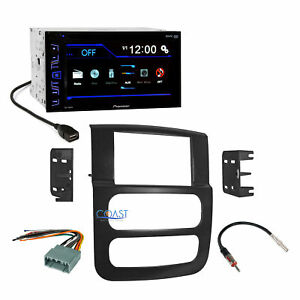 Pioneer Radio Stereo Double Din Dash Kit Harness For 2002 05 Dodge Ram Truck
