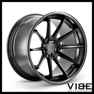 22 Ferrada Fr4 Black Concave Wheels Rims Fits Dodge Charger Rt Se Srt8